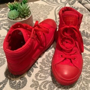 Junior Youth Red Gonverse High Tops Size 5